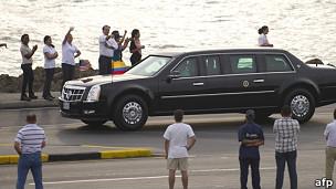 Auto de Obama en Cartagena