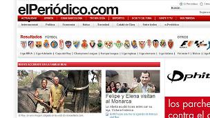 """Portada del diario español """"El Periódico"""""""