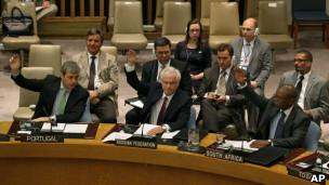 Votação do Conselho de Segurança na ONU.   Foto: AP