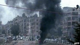 Explosões em Aleppo.   Foto: AFP