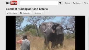 Jeff Rann Safaris, video publicitario en YouTube