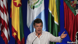خوان منوئل سنتوس، رییس جمهوری کلمبیا