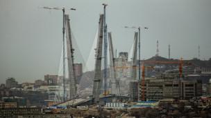 Cây cầu mới xây ở Vladivostock