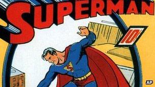 Capa do primeiro gibi do Super-homem, de 1939 (AP)