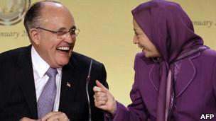 Rudy Giuliani y Maryam Rajavi