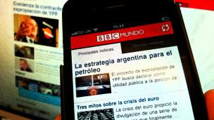 Imagen de la aplicación de BBC Mundo para iPhone