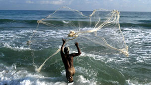 Fishermen in Sri Lanka