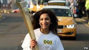 اولمبياد لندن: تدريبات على حمل الشعلة الأولمبية