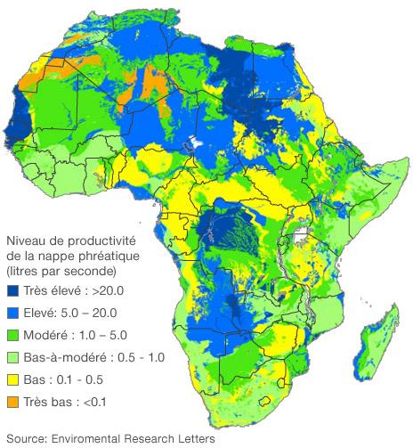 Une cartographie des nappes phréatiques du continent
