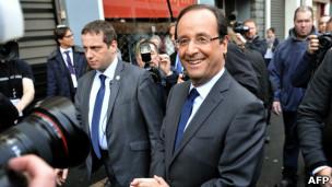François Hollande após votar