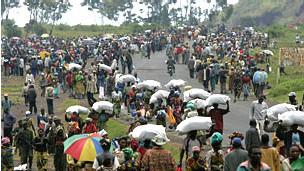 Raia wanaotoroka Mapigano DRC