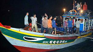 Ngư dân Lý Sơn được thả về