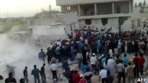 صور بثها ناشطون للانفجار