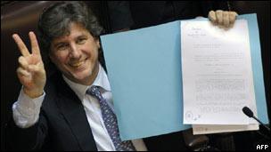 Amado Boudou, vicepresidente de Argentina