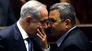 Benjamín Netanyahu y Ehud Barak.