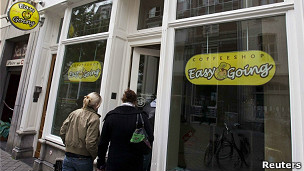 Coffee shop in Amsterdam