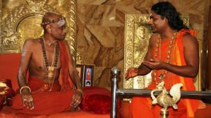 நித்யானந்தாவுடன் மதுரை ஆதீனம் அருணகிரிநாதர்