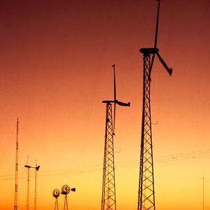 Fazenda eólica no Texas (USDA)