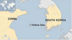 Bản đồ vị trí biển Hoàng Hải