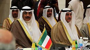 delagación de Kuwait en reunión de la OPEP