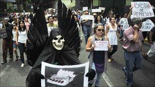تظاهرات مردم عليه کشتن خبرنگاران در مکزيک