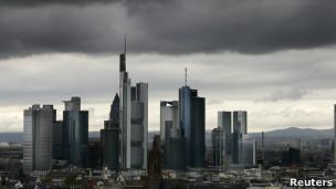 Nubes sobre of Frankfurt