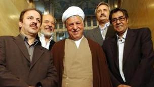 اکبر رفسنجانی، ایرج قادری، خسرو شکیبائی و مرتضی شایسته