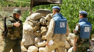 ناظران سازمان ملل و سرباز سوری