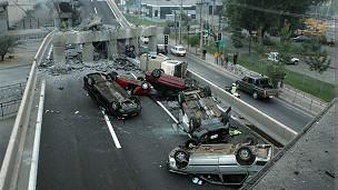 Escena del terremoto de 2010 en Chile