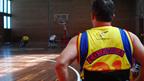 Entrenamiento de la selección colombiana de baloncesto en silla de ruedas