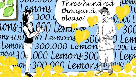 Mr Lime asking for 300,000 lemons