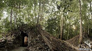 Ruina donde fue descubierto el calendario