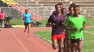 Corredores olímpicos etíopes