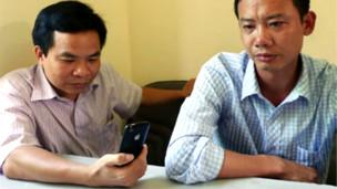 Hai nhà báo Nguyễn Ngọc Năm và Hán Phi Long