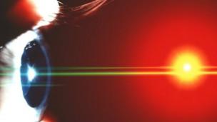 diseño de retina y foco luminoso