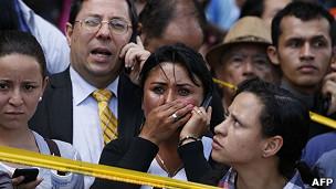 Reacción de testigos de la explosión en Bogotá.