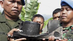 Hộp đen của chiếc Sukhoi bị rơi tại Indonesia