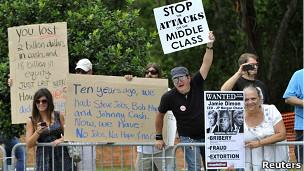 Protesta en Tampa
