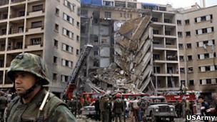 محل انفجار بیروت
