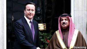 پادشاه بحرین و نخست وزیر بریتانیا