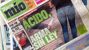 """""""Diario mío"""" de Colombia le dedica su portada a los atques con ácido"""