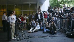陈光诚抵达美国纽约后发表讲话