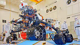 Vehículo explorador Curiosity, que aterrizará en Marte en agosto de 2012