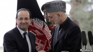 اولاند و کرزی در کابل