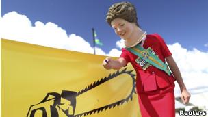 Protesto pelo veto de Dilma. Reuters