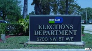 Autoridad electoral en Florida