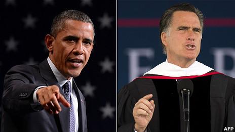 Hai ông Barack Obama và Mitt Romney