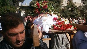 تدفین کشته شدگان در سوریه