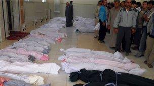 Thi thể các nạn nhân trong vụ thảm sát ở Houla