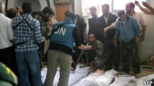 Maiti za waliouwawa Houla, Syria